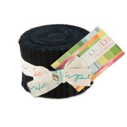 Moda Fabrics Bella Solids Junior Jelly Roll - Black
