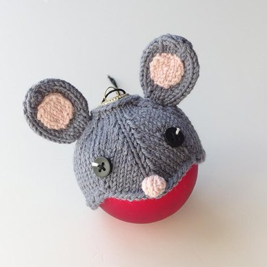 Mouse hat for a bauble