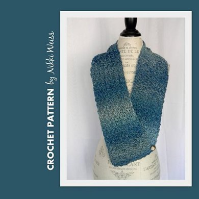 Willow Dappled Scarf with Button Closure