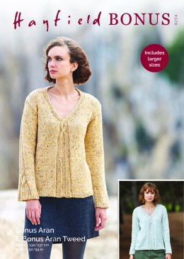 Sweater in Hayfield Bonus Aran with Wool - 8234 - Downloadable PDF