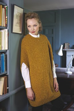 """""""Cocoon Tunic"""" - Tunic Knitting Pattern For Women in Debbie Bliss Luxury Tweed Chunky - TFT02"""