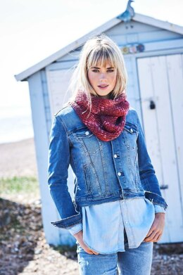 Coastal Cowl in Stylecraft Colour Pool - Downloadable PDF