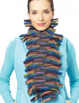 Felted Fringed Scarf in Patons Classic Wool Worsted