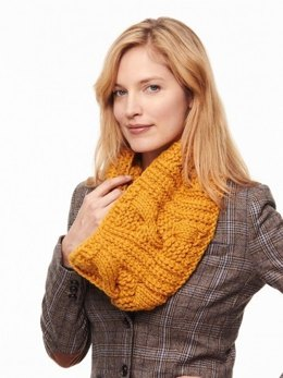 Cable and Rib Cowl in Patons Classic Wool Bulky