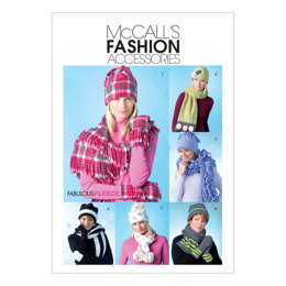 McCall's Misses' Hats, Scarves and Convertible Mittens M4681 - Sewing Pattern