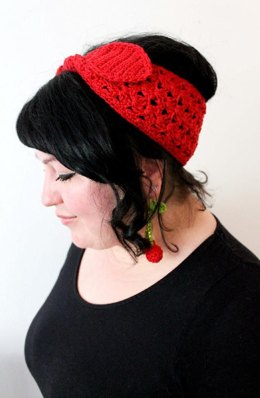 Cherry headband and earrings