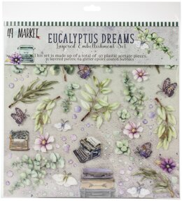 "49 And Market Layered Embellishments 12""X12"" - Eucalyptus"