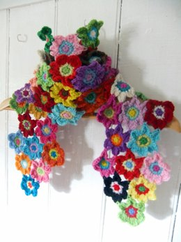 Bright Blooms Flower Scarf