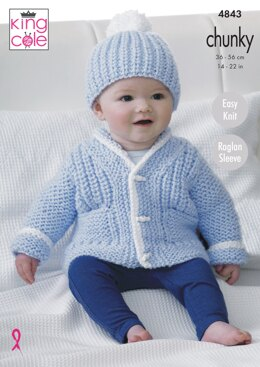 Jackets and Hat in King Cole Chunky - 4843 - Downloadable PDF