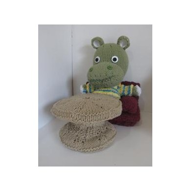 Knitkinz Green Hippo