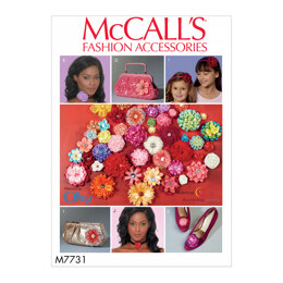 McCall's Ribbon Flowers M7731 - Paper Pattern All Sizes In One Envelope