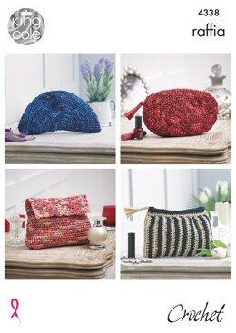 Crocheted Purses & Belts in King Cole Raffia - 4338 - Downloadable PDF