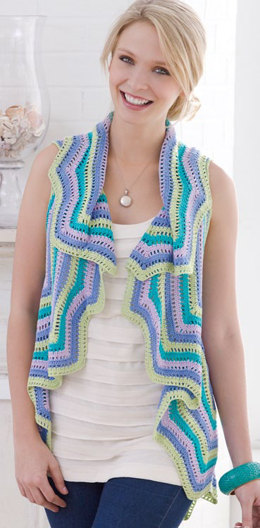Rippling Vest in Aunt Lydia's Bamboo Crochet Thread Size 10 - LC2428 - Downloadable PDF