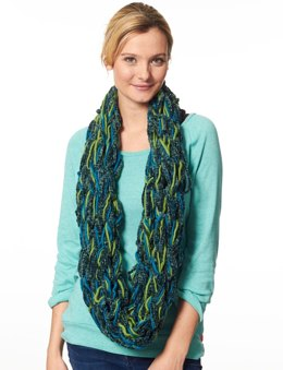 Arm Knit Cowl in Patons Classic Wool Roving and Bohemian