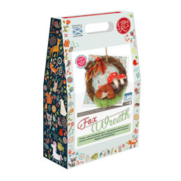 The Crafty Kit Company Autumn Fox Wreath Needle Felting Kit - 190 x 290 x 94mm