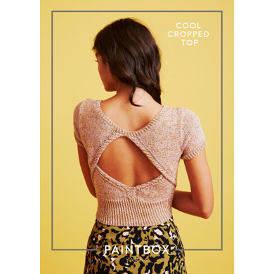 """Cool Cropped Top"" - Free Top Knitting Pattern For Women in Paintbox Yarns Metallic DK"