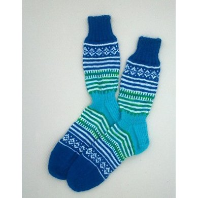 Touch of Fair Isle Socks