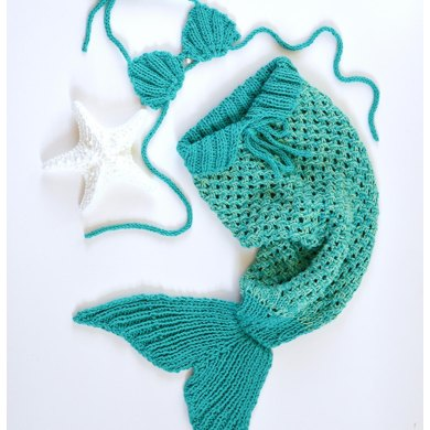 Mermaid Tail Baby Blanket Knitting Pattern By Caroline Brooke
