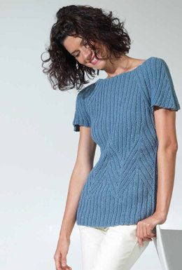 Pullover in Lang Yarns Denim Cotton - Downloadable PDF