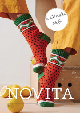 Watermelon Socks in Novita Muumitalo - Moominhouse - Downloadable PDF
