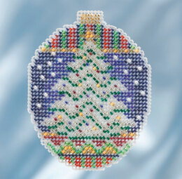 Mill Hill Icy Evergreen Ornament Cross Stitch Kit - Multi
