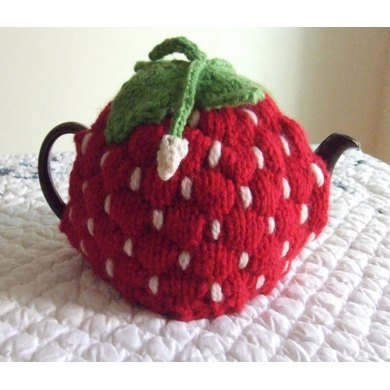 Strawberry Tea Cosy Knitting Pattern : (Spouted) Strawberry Tea Cozy Knitting pattern by Dawn Brocco