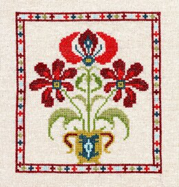 Avlea Folk Embroidery Grecian Urn 3 - Downloadable PDF