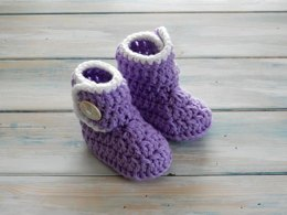 Baby Button Booties