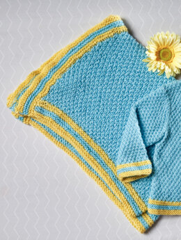 Moss Stitch Baby Blanket in Premier Yarns Anti-Pilling Everyday Baby - Downloadable PDF