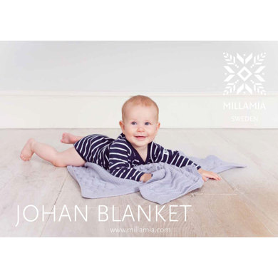 Johan Baby Blanket in MillaMia Naturally Soft Merino