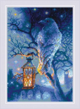 Riolis Wise Raven Cross Stitch Kit - 21cm x 30cm