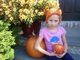 Pumpkin Hat and Pumpkin