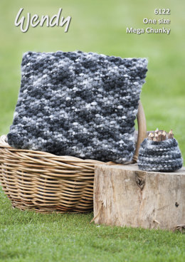 Cushion and Storage Pot in Wendy Attitude Mega Chunky - 6122 - Downloadable PDF