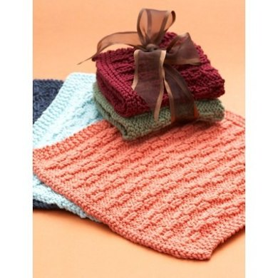 Hostess Dishcloth In Lily Sugar And Cream Solids Crochet Patterns
