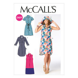 McCall's Misses' Dresses and Hat M6885 - Sewing Pattern