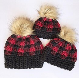 Thick and Quick Buffalo Plaid Hat