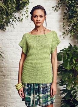 Women Short Sleeved Sweater in Bergere de France Coton Fifty - 71136-275 - Downloadable PDF