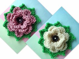 694 CROCHET - QUEEN VICTORIA ROSE AND LEAVES