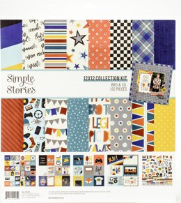 """Simple Stories Collection Kit 12""""X12"""" - Bro & Co."""