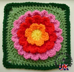 Blooming Flower Afghan Square