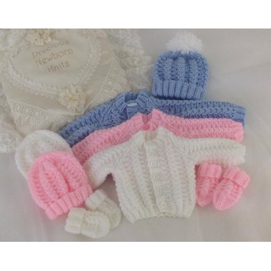 Pattern 54 Babies Cosy Cardigan Set Sizes Early Baby 0 3 Months