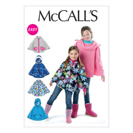 McCall's Children's/Girls' Ponchos M6431 - Sewing Pattern