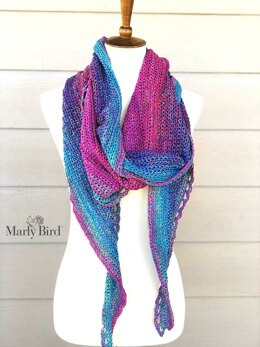 Rainbow Sprinkles Crescent Shawl