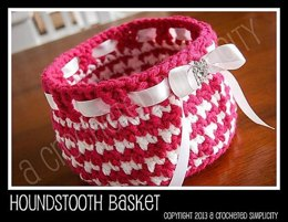 Houndstooth Basket for Easter or Everyday