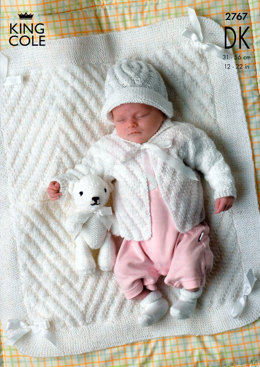 Jackets, Hat and Blanket in King Cole Comfort Baby DK - 2767