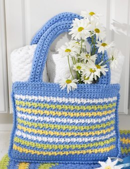 Shopping Tote Bag in Bernat Handicrafter Cotton Solids
