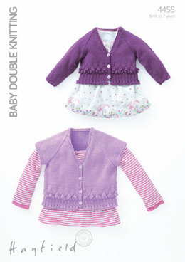 Long and Short Sleeved Cardigans in Hayfield Baby DK - 4455