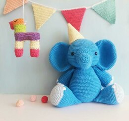 Bernie the Birthday Elephant amigurumi pattern