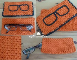 Woven Look Glasses Case