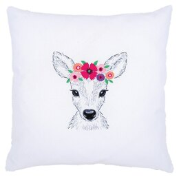 Vervaco Deer & Flowers Embroidery Kit - 6 x 20cm